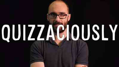 The word Quizzaciosly by Michael from Vsauce