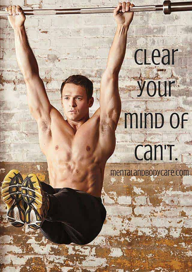 clear your mind of can't - workout motivation