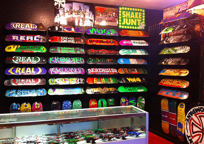 Skateboards at Core Extreme Sports