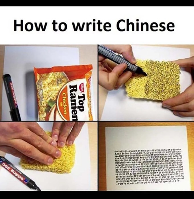 How to write in Chinese Meme