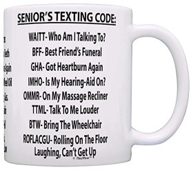 Senior's Texting Code Coffee Mug