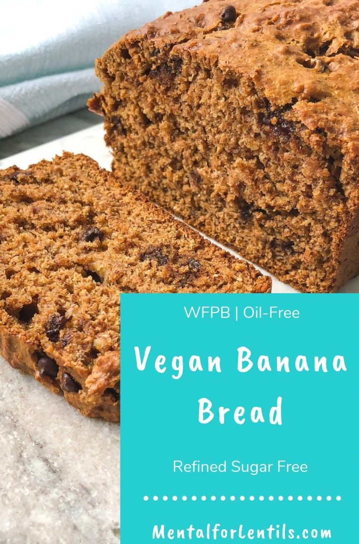 vegan banana bread pin image 2