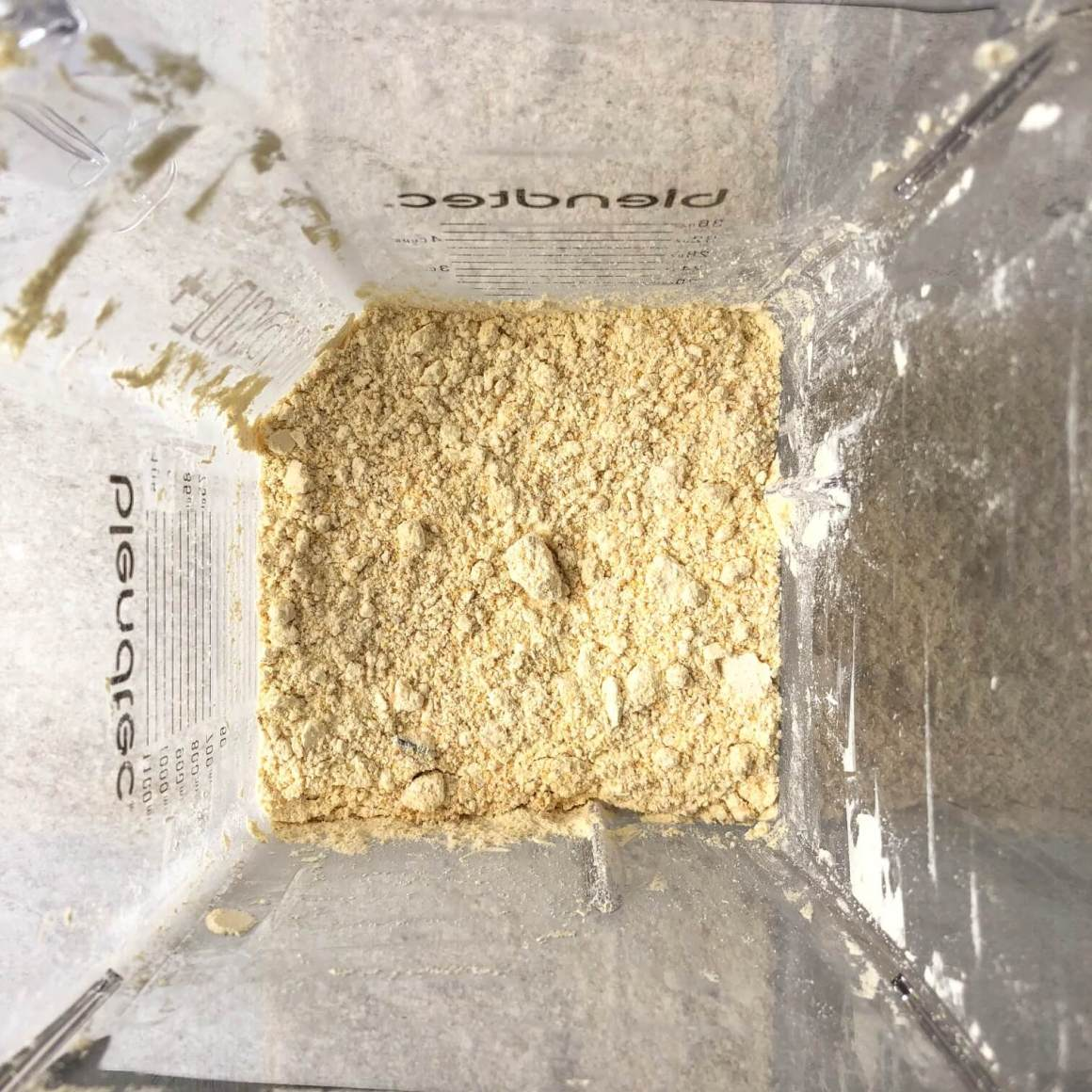 Chickpea flour in blender