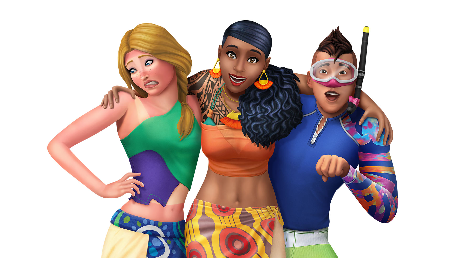 The Sims 4 Island Living Key Art