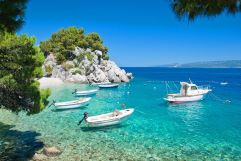 Corfu Ionian sea with boats
