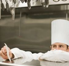 Exhausted chefs experiencing mental health problems