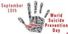 Hands up for World Suicide Prevention Day Suicidal thoughts and a plan