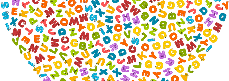 letters of the alphabet arranged in heart shape
