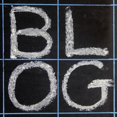 Blog written on a blackboard