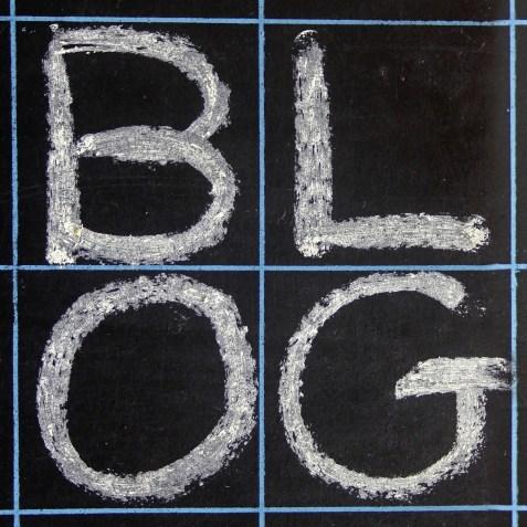 Blog written on a blackboard