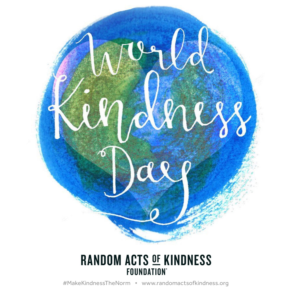 World Kindness Day written on the image of a globe