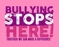 Pink Shirt Day graphic: Bullying stops here