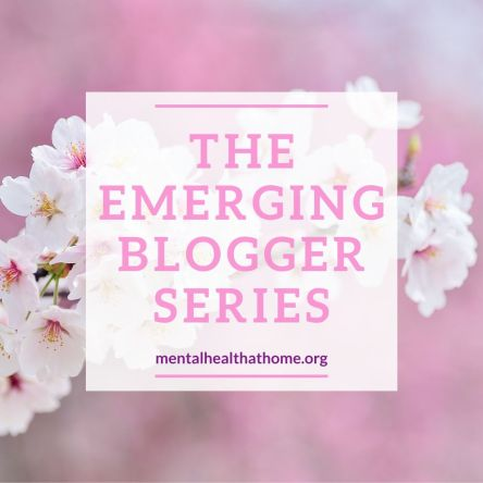 The emerging blogger series on Mental Health @ Home -background image of cherry blossoms