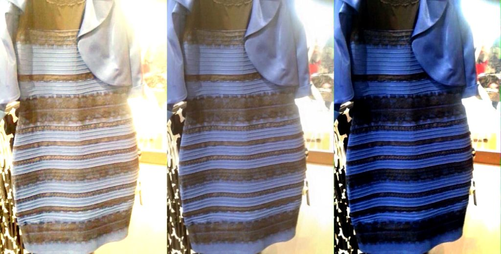 black and blue or white and gold dress