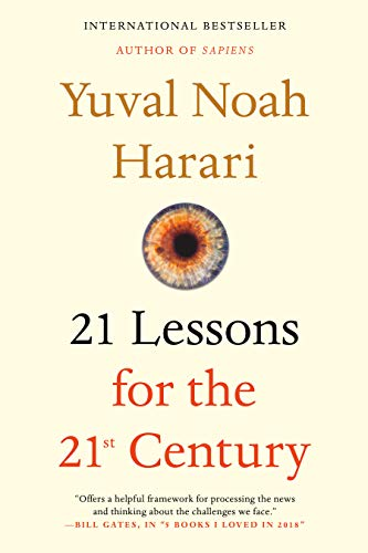book cover: 21 Lessons for the 21st Century by Yuval Noah Harari