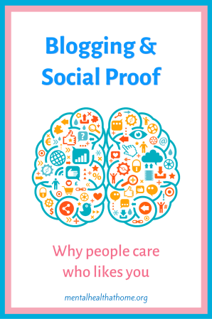 Blogging and social proof - graphic of a brain