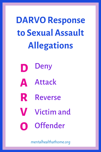 DARVO response to sexual assault allegations
