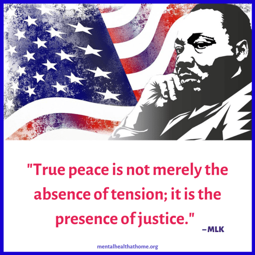 """Martin Luther King: """"True peace is not merely the absence of tension; it is the presence of justice."""""""