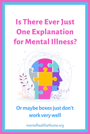 Is there ever just one explanation for mental illness? - graphic of head made up of puzzle pieces
