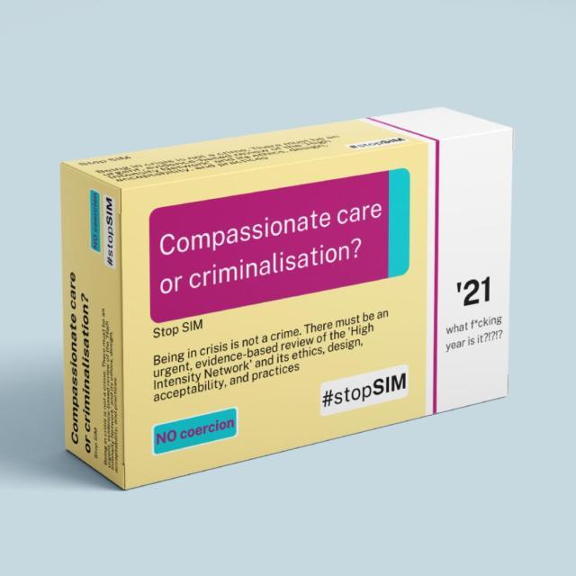 StopSIM image: compassionate care or criminalisation?