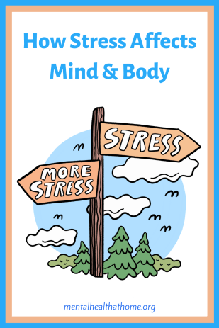 How stress affects mind and body – signposts pointing to stress and more stress