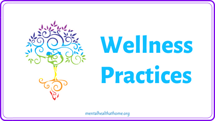 Wellness practices section of the COVID-19/mental health coping toolkit
