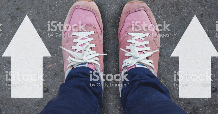 pink shoes with arrows