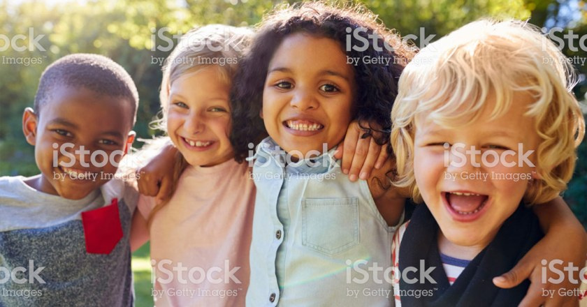 kids smiling in group