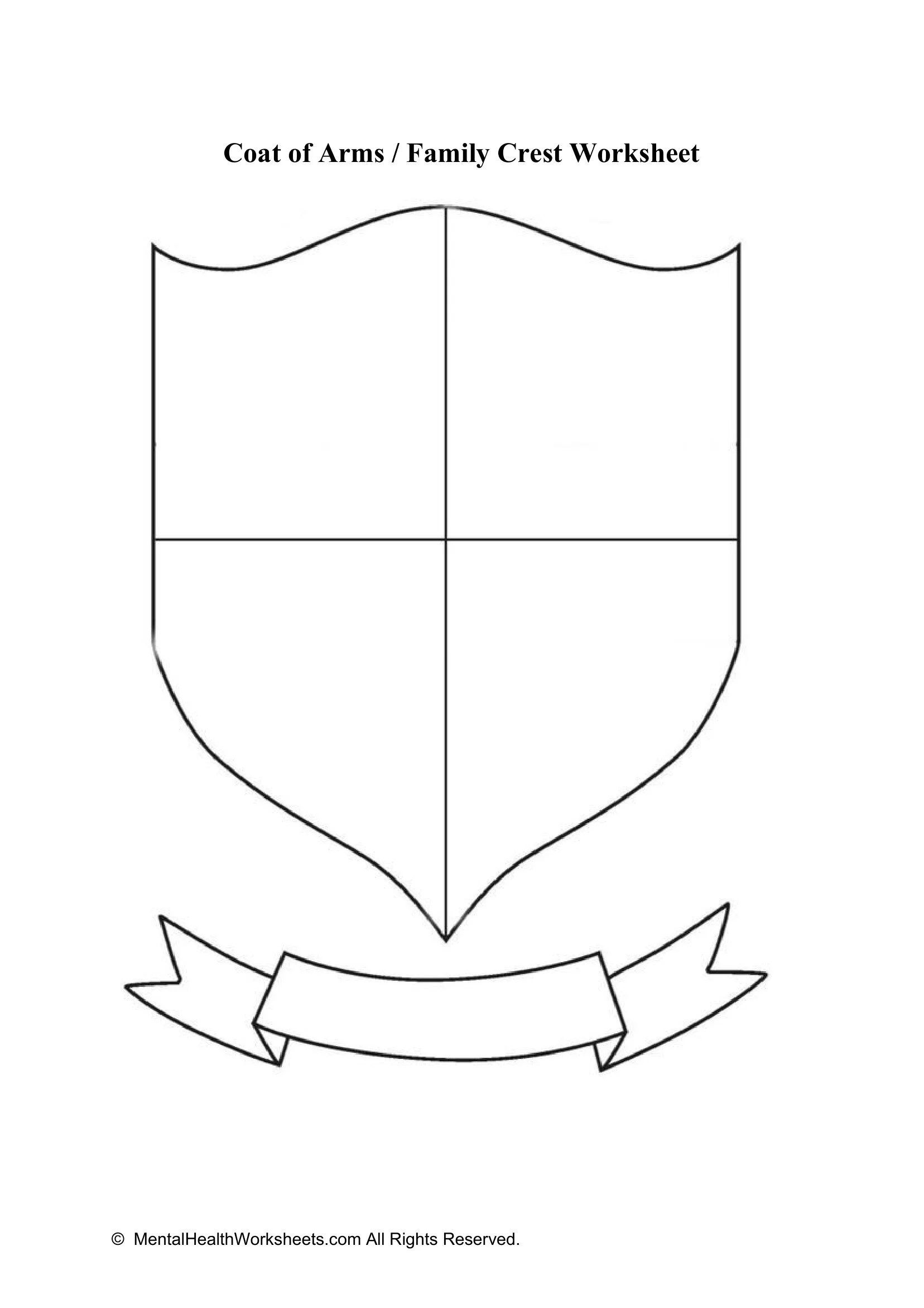 Coat Of Arms Family Crest Worksheet