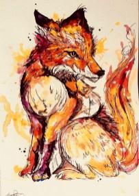 Fox by Artist Jade Bryant