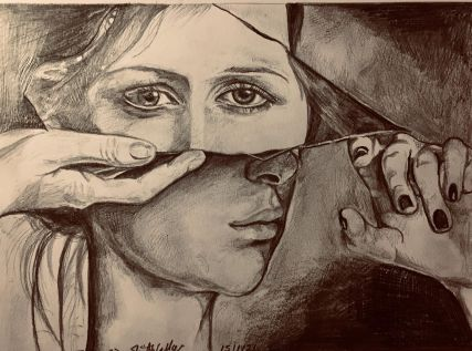 Behind The Mask - Artwork by Rebecca Dandridge-Walker