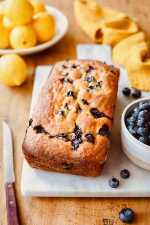 Blueberry and Lemon Yoghurt Loaf