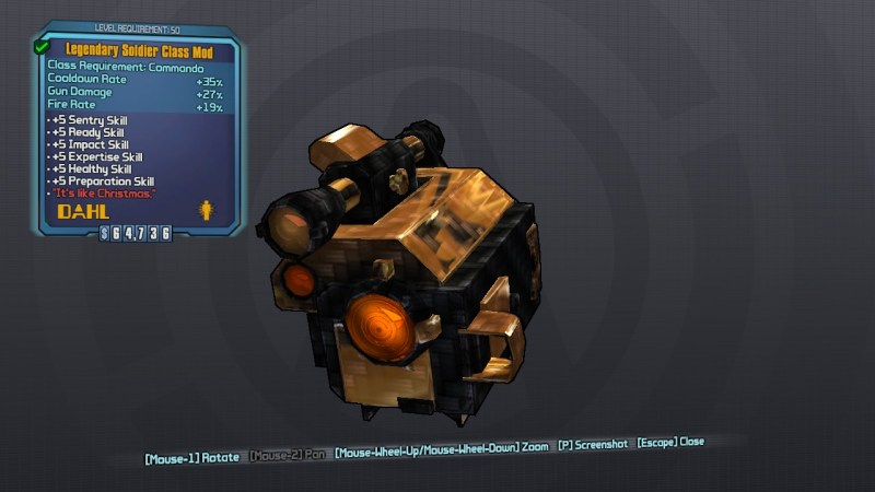 Borderlands 2 Legendary Soldier Class Mod