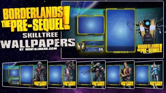BLTPS - Vault Hunter Skill Tree Wallpapers