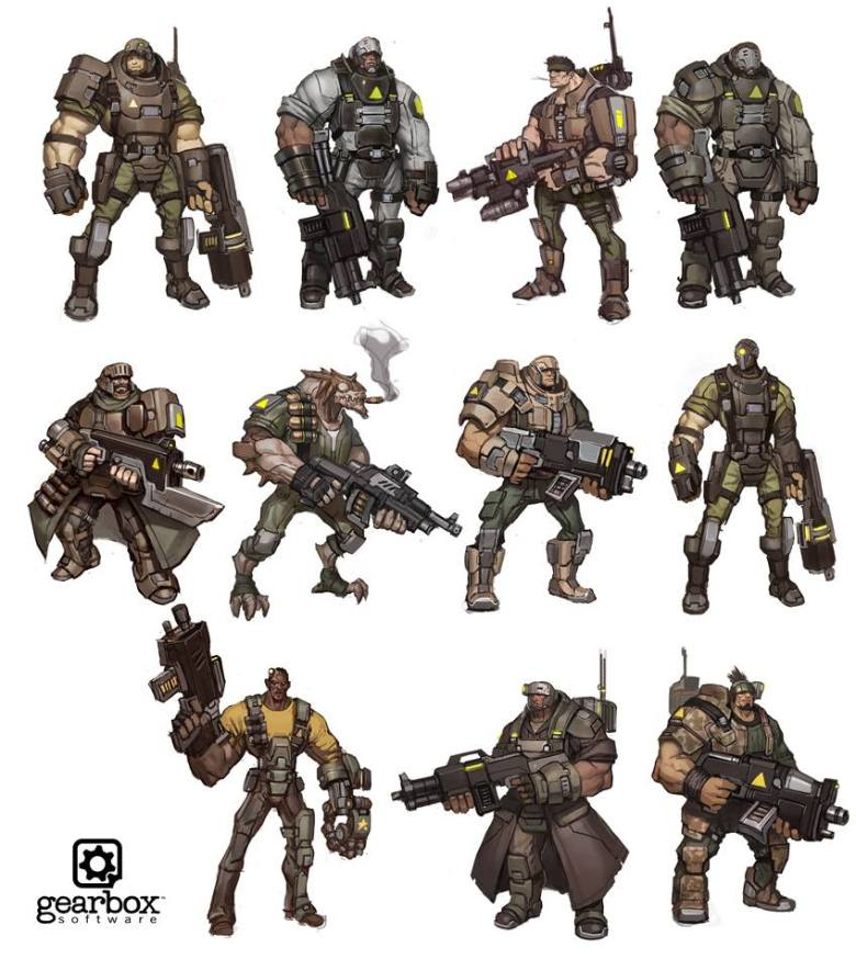 Battleborn Concept Art for Chuck / Oscar Mike