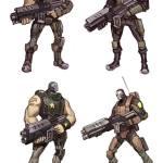 Battleborn Concept Art of Oscar Mike's