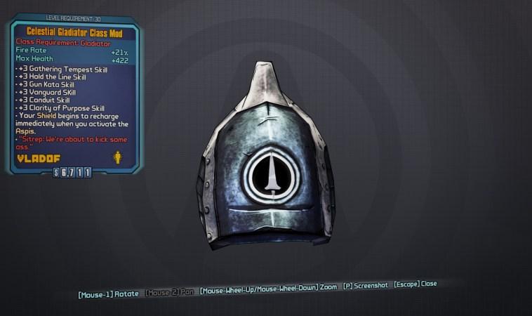 BLTPS Legendary Class Mod - Celestial Gladiator