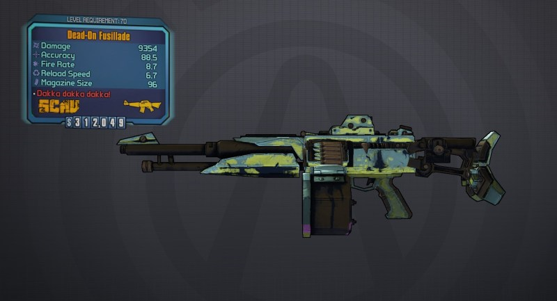 Fusillade Legendary Assault Rifle