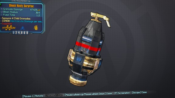 BLTPS Legendary Grenade Mod - Nasty Surprise