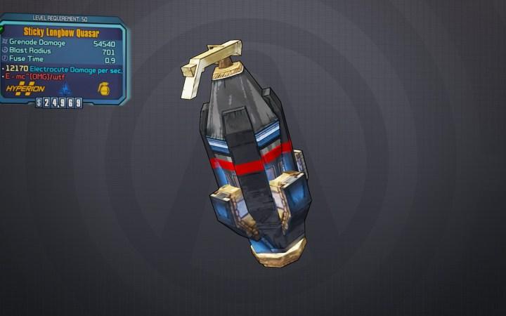 BLTPS Legendary Grenade Mod - Quasar