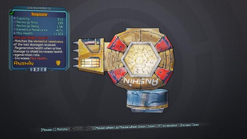 BLTPS Legendary Shield - Reogenator