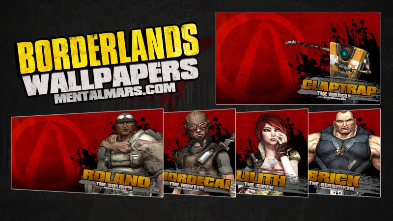 Borderlands Splatter Wallpaper Series