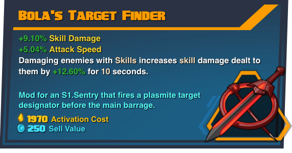 Bola's Target Finder - Battleborn Legendary Gear