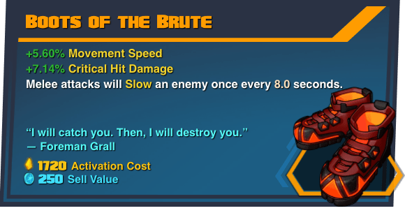Boots of the Brute - Battleborn Legendary Gear