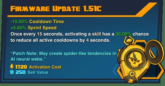 Firmware Update 1.51C - Battleborn Legendary Gear