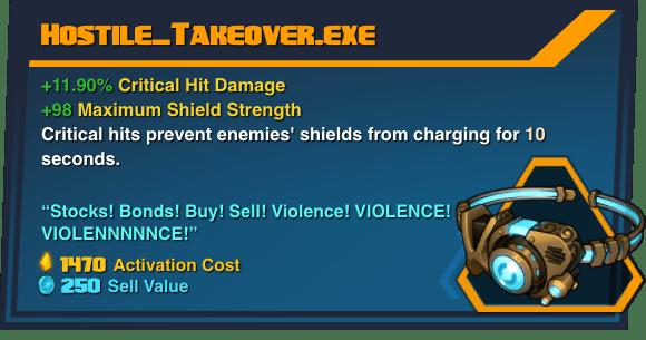 Hostile_Takeover.exe - Battleborn Legendary Gear