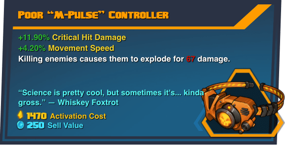 "Poor ""M-Pulse"" Controller - Battleborn Legendary Gear"