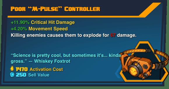 "Poor ""M-Pulse"" Controller - Battleborn Legendary Gear"