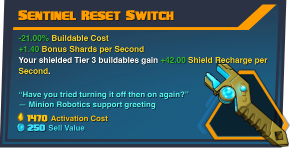 Sentinel Reset Switch - Battleborn Legendary Gear