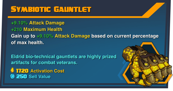 Symbiotic Gauntlet - Battleborn Legendary Gear